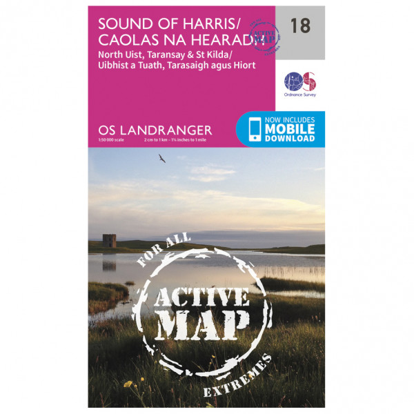 Ordnance Survey - Sound Of Harris Waterproof - Vaelluskartat