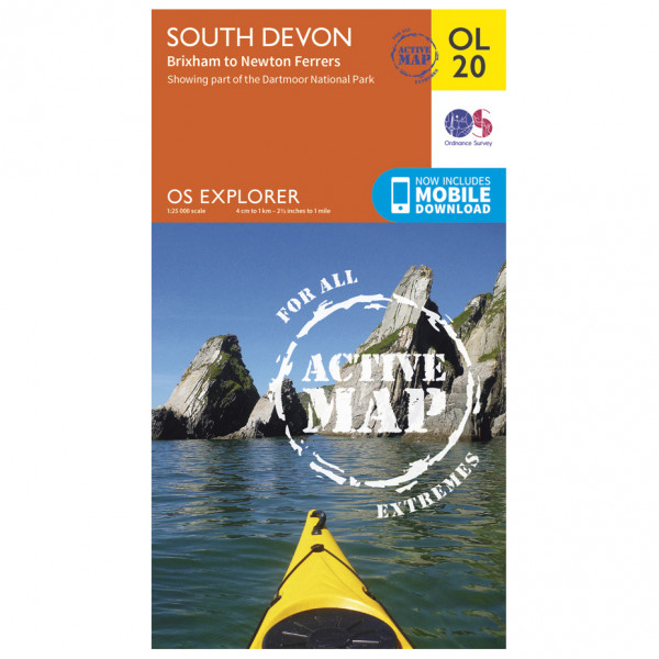Ordnance Survey - South Devon / Brixham To Newton Ferrers Waterproof EXPL020 - Wanderkarte