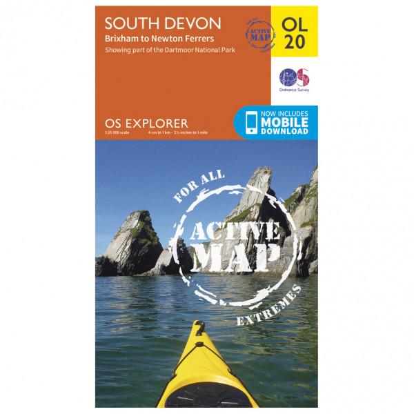 Ordnance Survey - South Devon / Brixham To Newton Ferrers Waterproof - Wandelkaarten