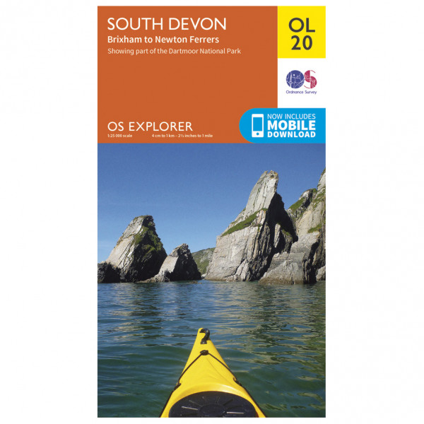 Ordnance Survey - South Devon Outdoor - Vandrekort