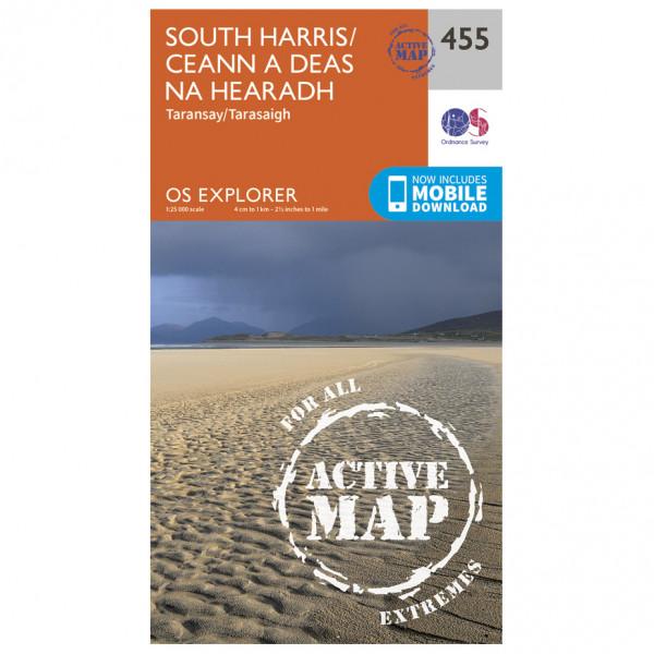 Ordnance Survey - South Harris / Ceann A Deas Na Hearadh Waterproof EXPL455 - Wanderkarte