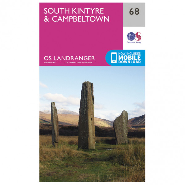 Ordnance Survey - South Kintyre / Campbeltown - Vandrekort