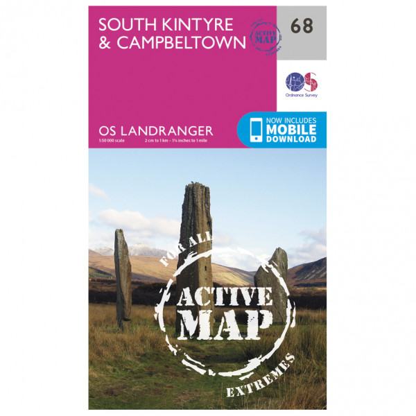 Ordnance Survey - South Kintyre / Campbeltown Waterproof - Vaelluskartat
