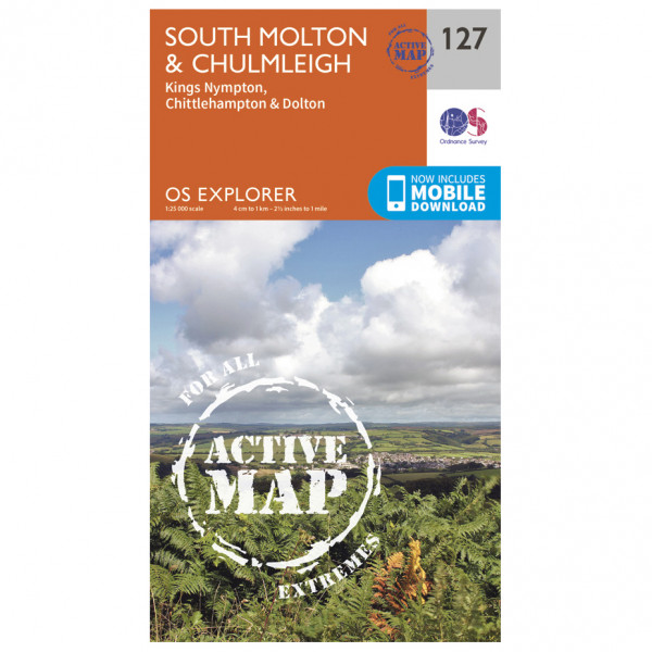 Ordnance Survey - South Molton / Chulmleigh Waterproof - Vaelluskartat