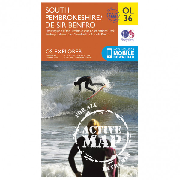 Ordnance Survey - South Pembrokeshire Waterproof - Vandrekort