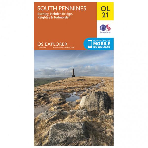 Ordnance Survey - South Pennines Outdoor - Wandelkaart