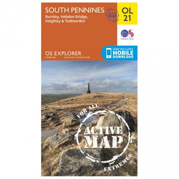 Ordnance Survey - South Pennines Waterproof - Vaelluskartat