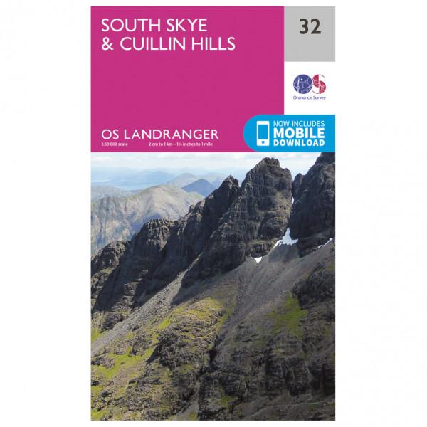 Ordnance Survey - South Skye / Cuillin Hills L032 - Wanderkarte