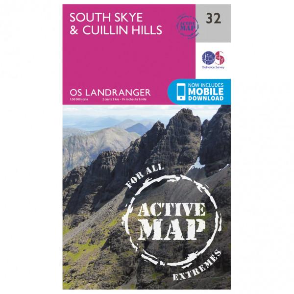 Ordnance Survey - South Skye / Cuillin Hills Waterproof - Vaelluskartat