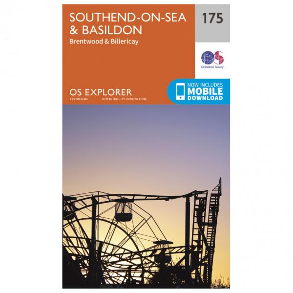 Ordnance Survey - Southend-On-Sea / Basildon - Vandringskartor