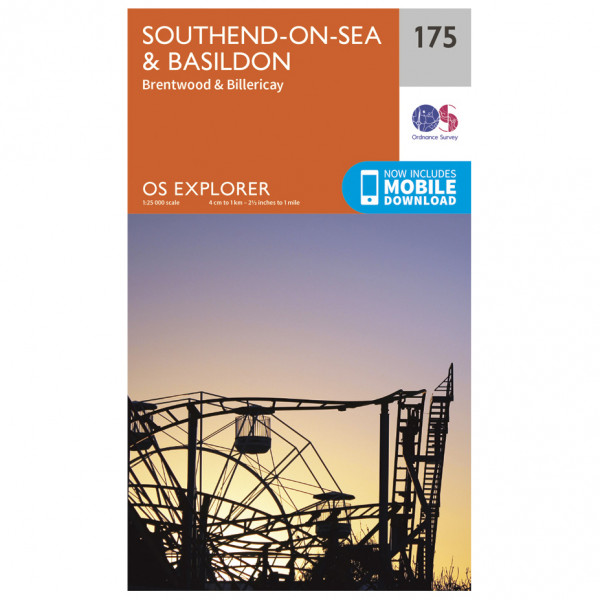 Ordnance Survey - Southend-On-Sea / Basildon - Wandelkaarten