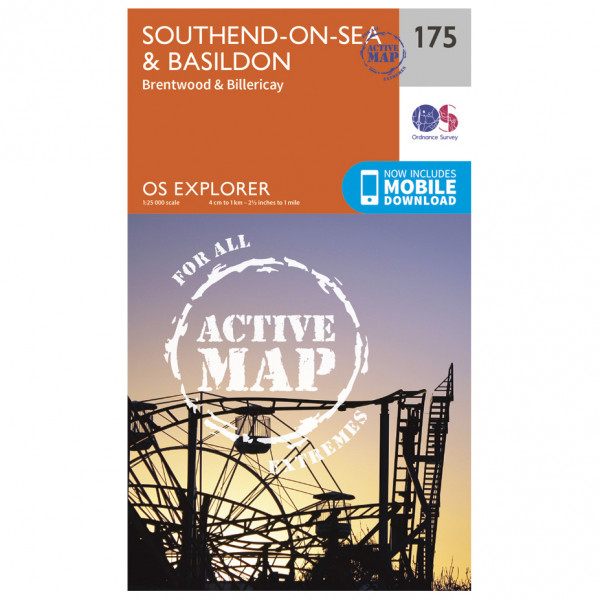 Ordnance Survey - Southend-On-Sea / Basildon Waterproof - Hiking map