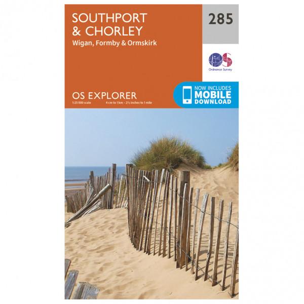 Ordnance Survey - Southport / Chorley EXP285 - Wanderkarte