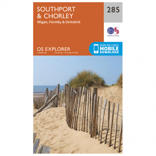 Ordnance Survey - Southport / Chorley - Hiking map