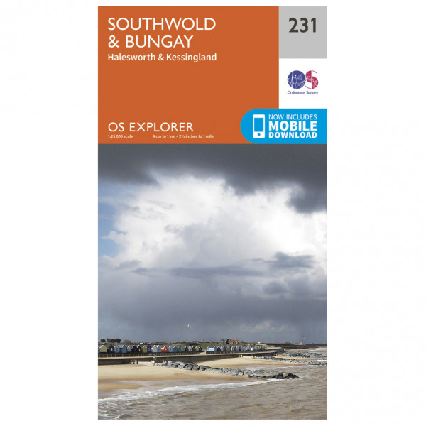 Ordnance Survey - Southwold / Bungay / Halesworth / Kessingland - Vandringskartor