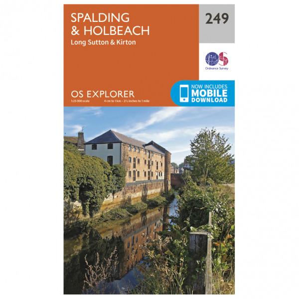 Ordnance Survey - Spalding / Holbeach - Vandrekort