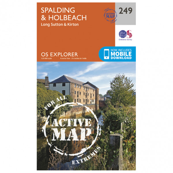 Ordnance Survey - Spalding / Holbeach Waterproof - Vandringskartor