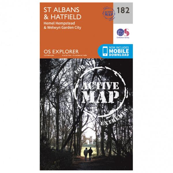 Ordnance Survey - St Albans / Hatfield Waterproof - Wandelkaarten