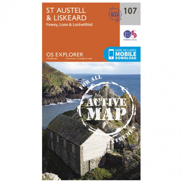 Ordnance Survey - St Austell / Liskeard / Fowey Waterproof - Hiking map