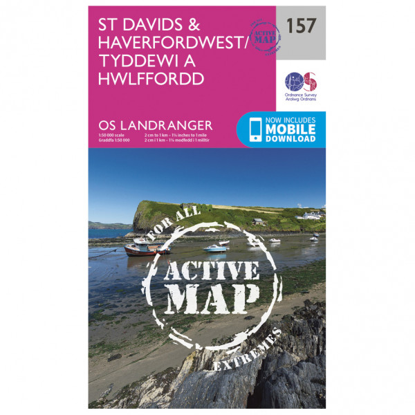 Ordnance Survey - St Davids / Haverfordwest Waterproof - Vandrekort