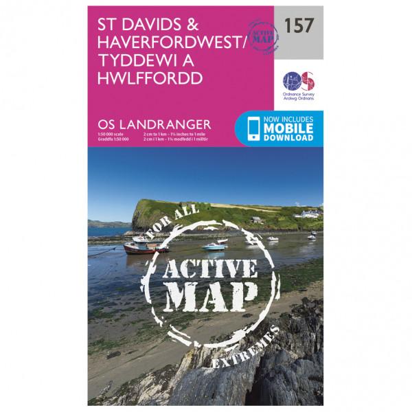 Ordnance Survey - St Davids / Haverfordwest Waterproof - Wandelkaarten