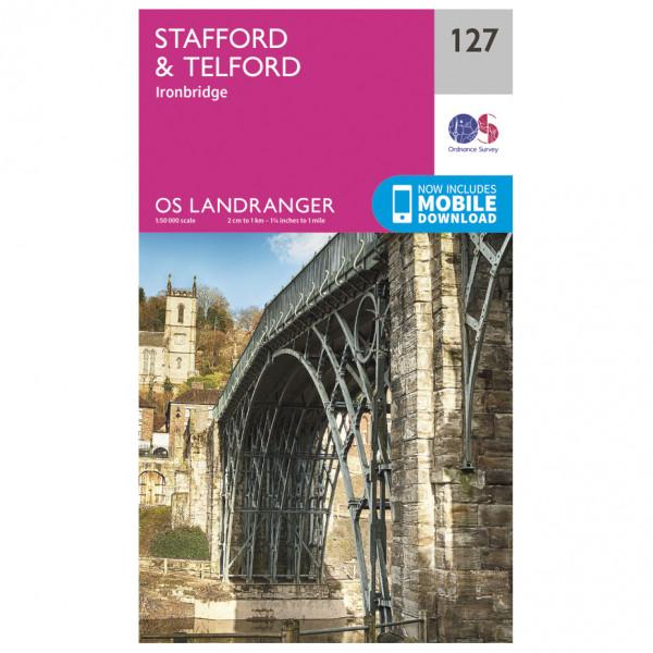 Ordnance Survey - Stafford / Telford - Carte de randonnée