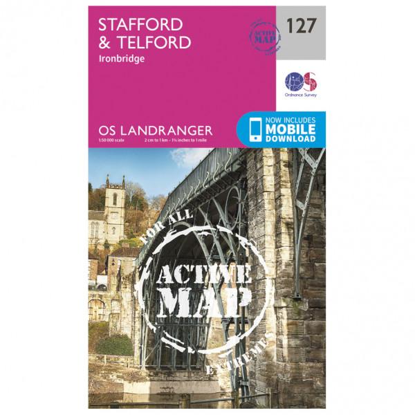 Ordnance Survey - Stafford / Telford / Ironbridge Waterproof - Hiking map