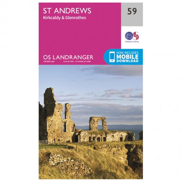 Ordnance Survey - St-Andrews - Vandringskartor