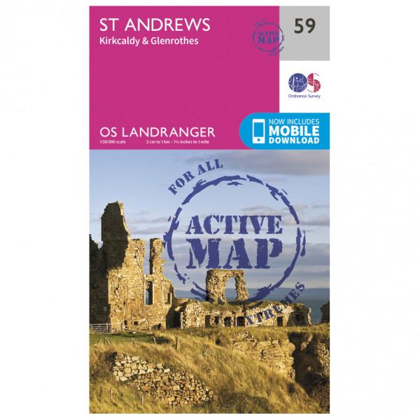 Ordnance Survey - St-Andrews Waterproof - Vandringskartor
