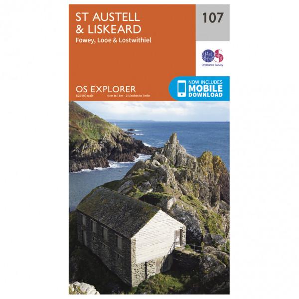 Ordnance Survey - St-Austell / Liskeard - Vandringskartor