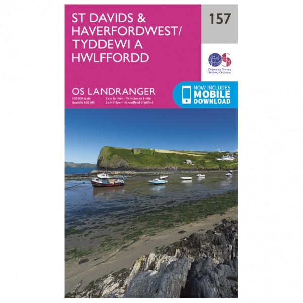 Ordnance Survey - St-David's / Haverfordwest - Mapa de senderos