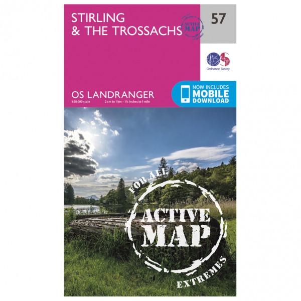 Ordnance Survey - Stirling & The Trossachs Waterproof - Hiking map