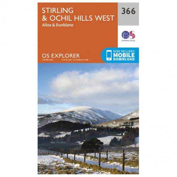Ordnance Survey - Stirling / Ochil Hills West EXP366 - Wanderkarte
