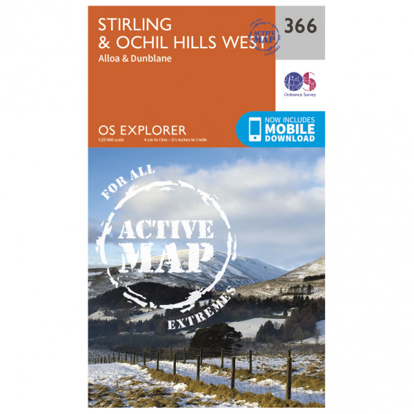 Ordnance Survey - Stirling / Ochil Hills West Waterproof - Hiking map