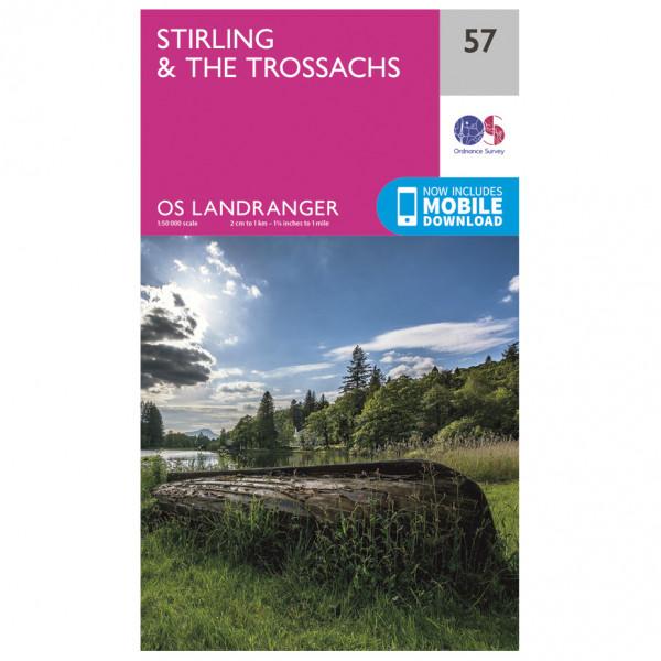 Ordnance Survey - Stirling / The Trossachs - Vandrekort
