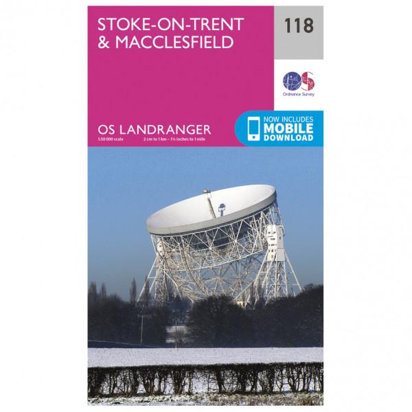 Ordnance Survey - Stoke-On-Trent / Macclesfield L118 - Wanderkarte