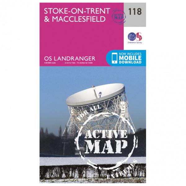 Ordnance Survey - Stoke-On-Trent / Macclesfield Waterproof LA118 - Wanderkarte
