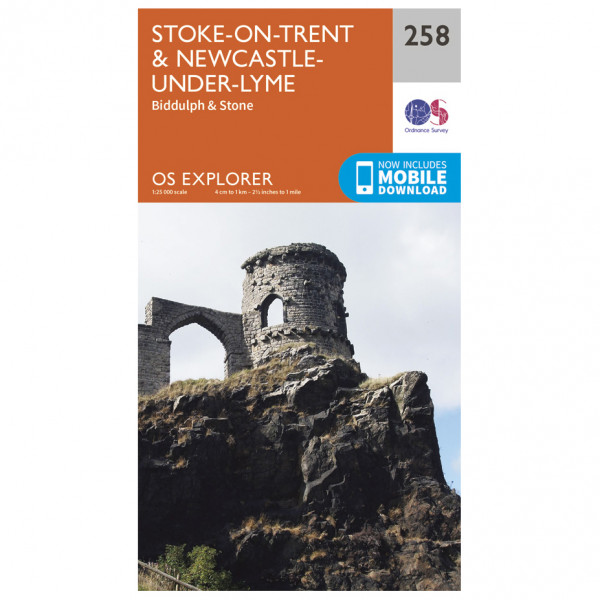 Ordnance Survey - Stoke-On-Trent / Newcastle-Under-Lyme - Vandrekort
