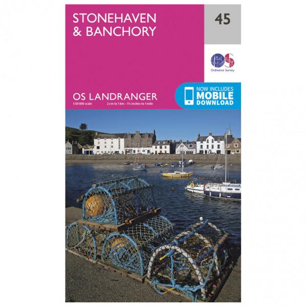 Ordnance Survey - Stonehaven / Banchory - Vandrekort