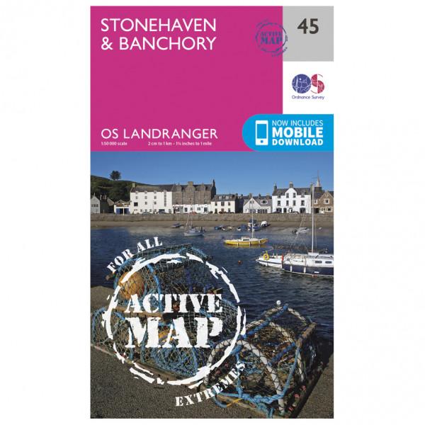 Ordnance Survey - Stonehaven / Banchory Waterproof - Vandringskartor
