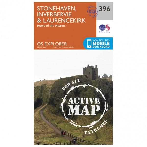 Ordnance Survey - Stonehaven / Inverbervie / Laurencekirk Waterproof - Hiking map