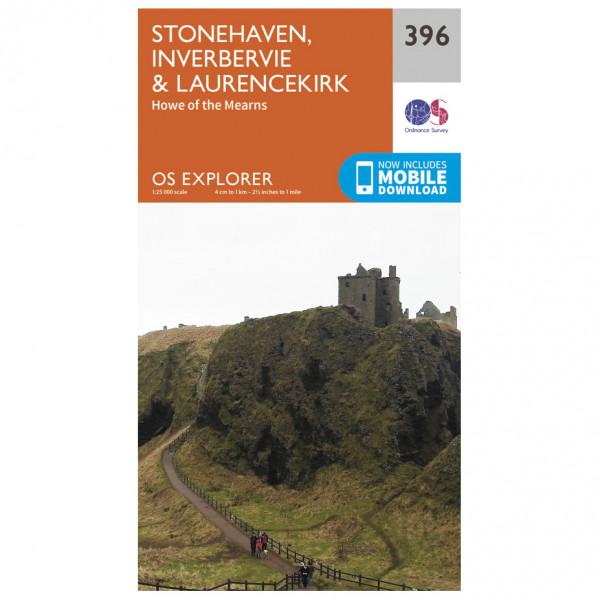 Ordnance Survey - Stoneheaven / Inverbervie / Laurencekirk - Mapa de senderos