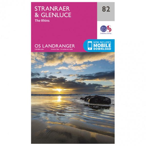 Ordnance Survey - Stranraer / Glenluce - Vandrekort