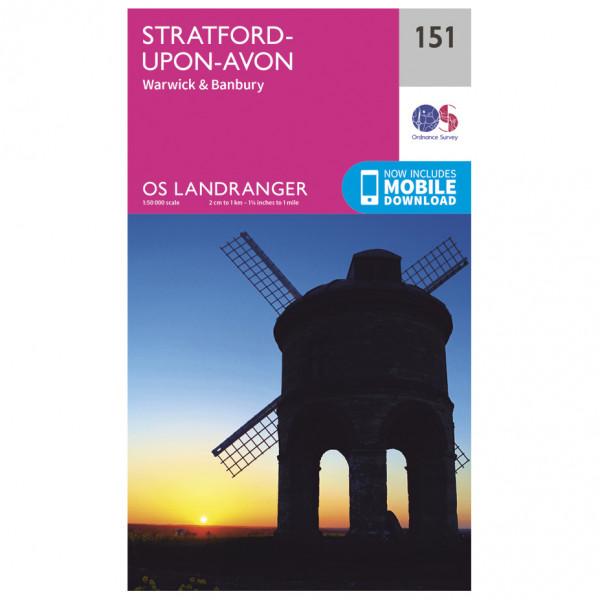 Ordnance Survey - Stratford-Upon-Avon - Vandrekort