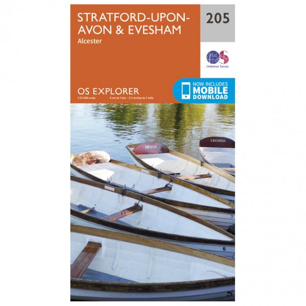 Ordnance Survey - Stratford-Upon-Avon / Evesham EXP205 - Wanderkarte