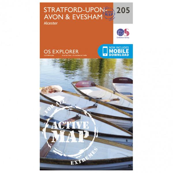 Ordnance Survey - Stratford-Upon-Avon / Evesham Waterproof EXPL205 - Wanderkarte