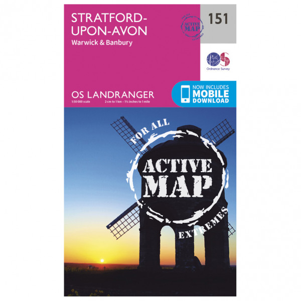Ordnance Survey - Stratford-Upon-Avon / Warwick / Banbury Waterproof - Hiking map