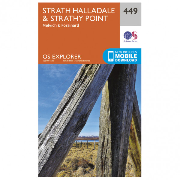 Ordnance Survey - Strath Halladale / Strathy Point EXP449 - Wanderkarte