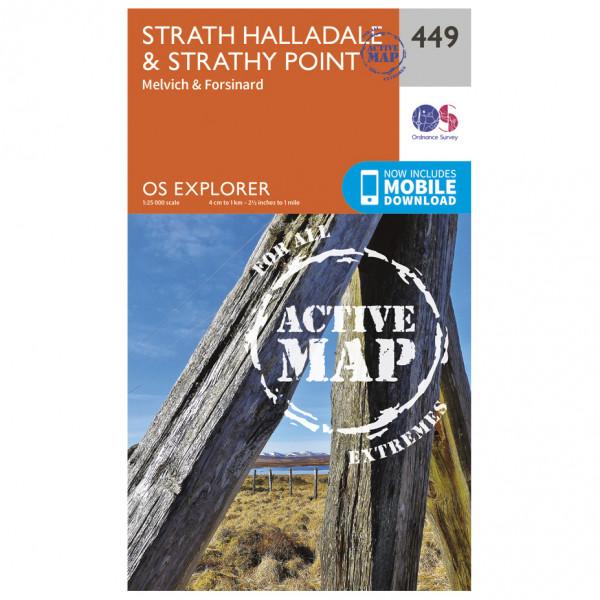 Ordnance Survey - Strath Halladale / Strathy Point Waterproof - Vandrekort