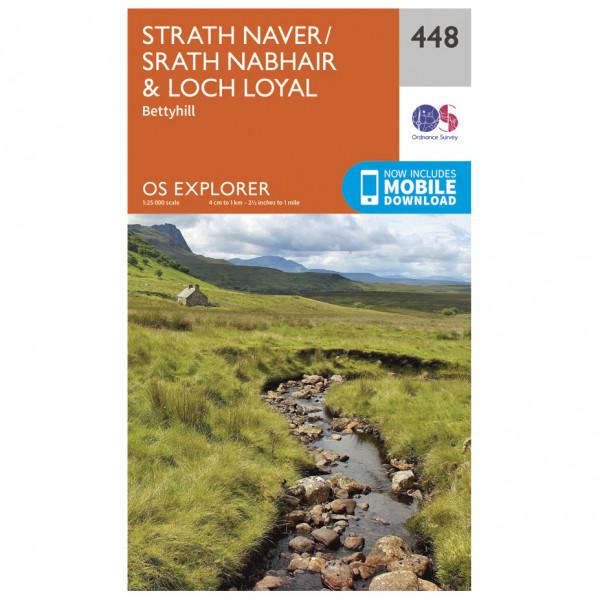 Ordnance Survey - Strath Naver / Strath Nabhair / Loch Loyal EXP448 - Wanderkarte
